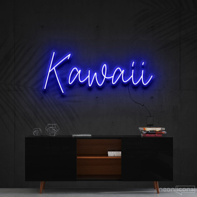 """Kawaii"" Neon Sign 60cm (2ft) / Blue / Cut to Shape by Neon Icons"