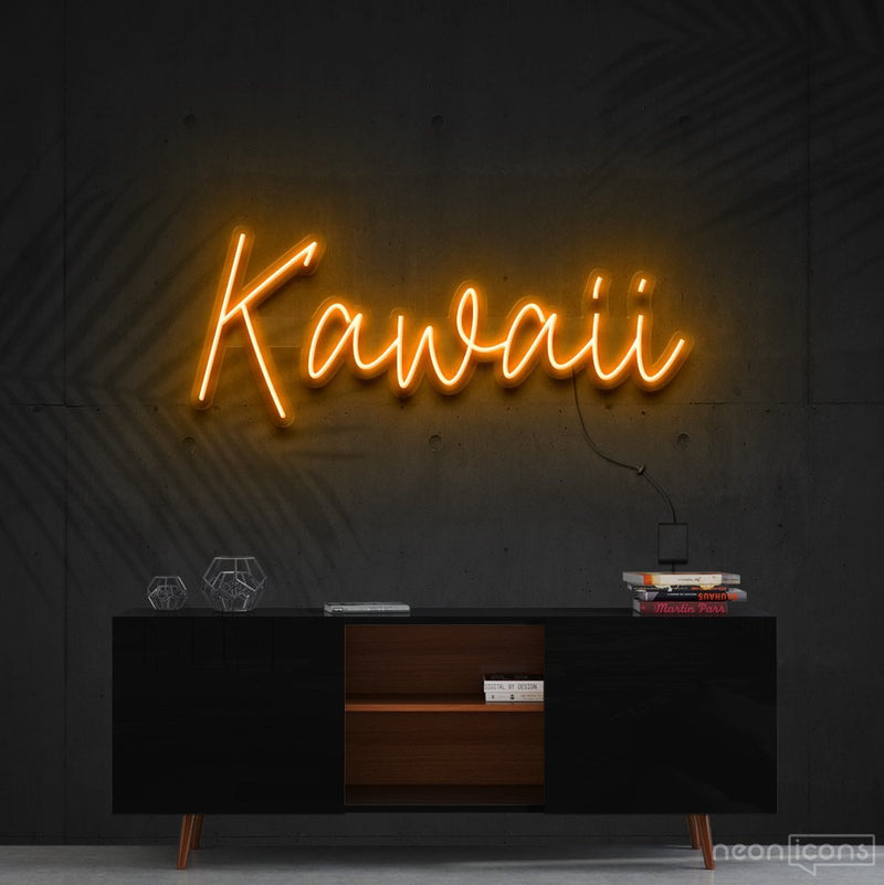 """Kawaii"" Neon Sign 60cm (2ft) / Orange / Cut to Shape by Neon Icons"