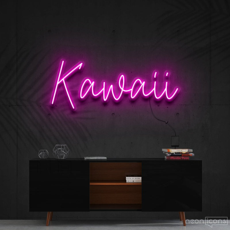 """Kawaii"" Neon Sign 60cm (2ft) / Pink / Cut to Shape by Neon Icons"