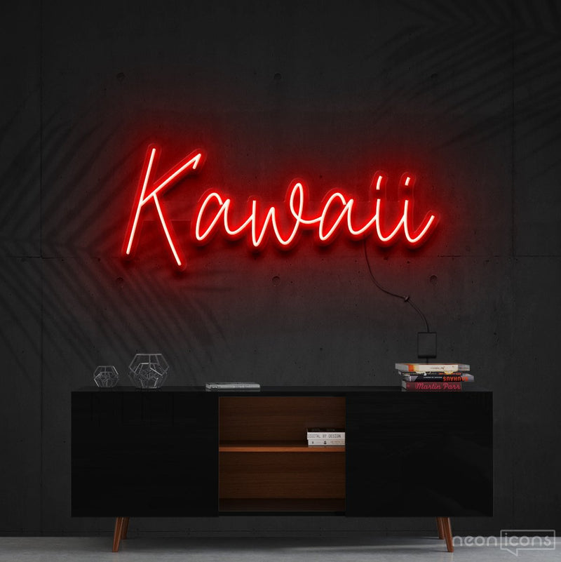 """Kawaii"" Neon Sign 60cm (2ft) / Red / Cut to Shape by Neon Icons"