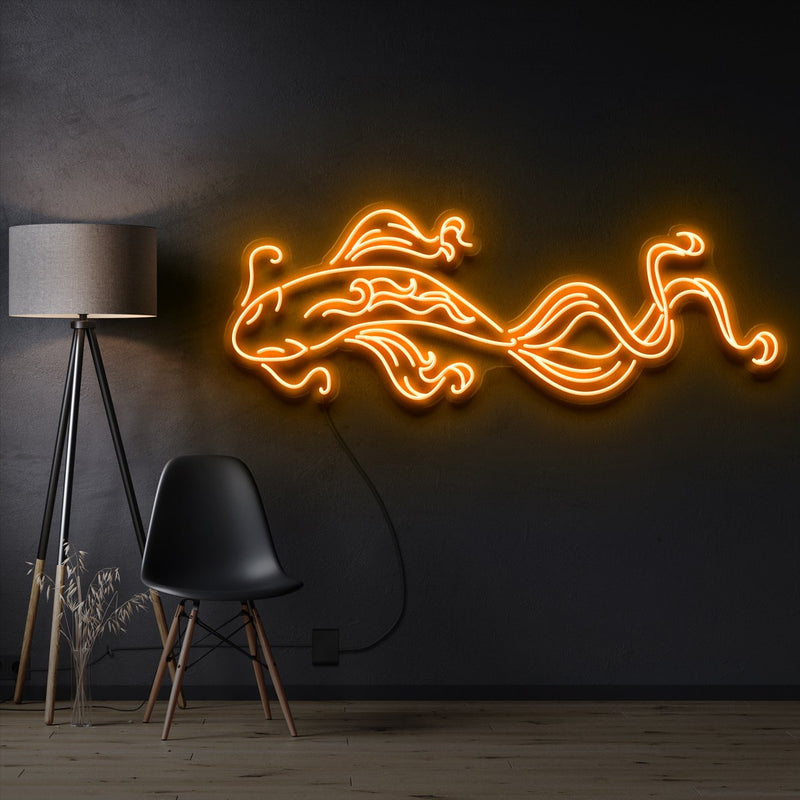 """Koi Fish"" Pet Neon Sign 90cm / Orange / Cut to Shape by Neon Icons"