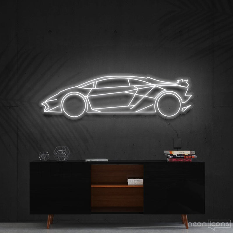 """Lamborghini Aventador SV"" Neon Sign 90cm (3ft) / White / Cut to Shape by Neon Icons"