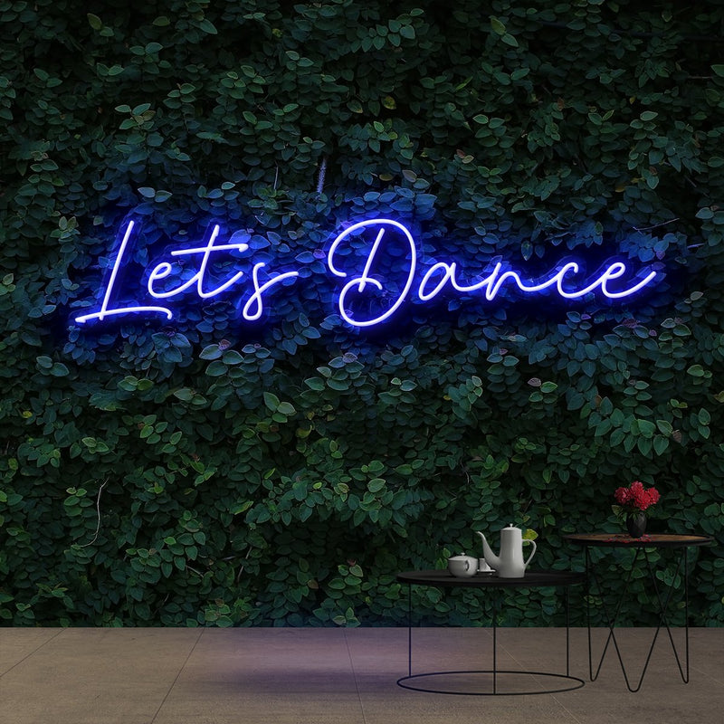 """Let's Dance"" Neon Sign 60cm (2ft) / Blue / Cut to Shape by Neon Icons"
