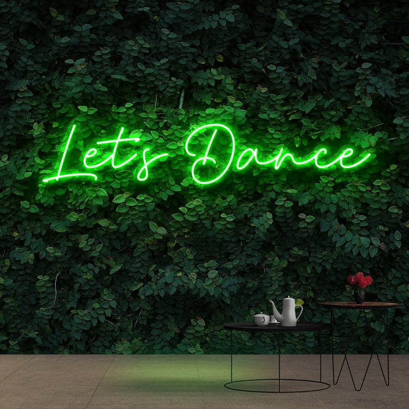 """Let's Dance"" Neon Sign 60cm (2ft) / Green / Cut to Shape by Neon Icons"