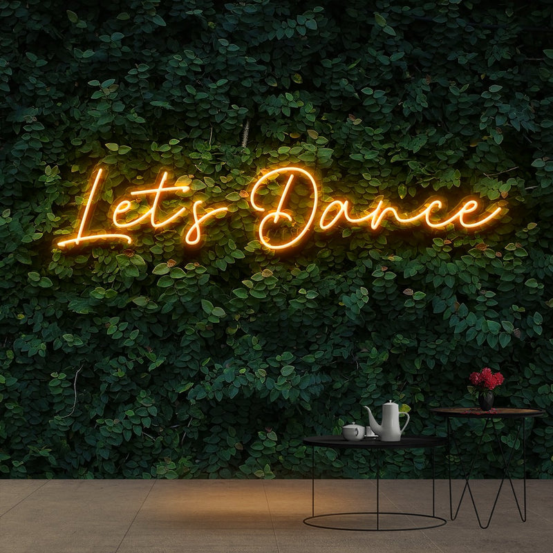 """Let's Dance"" Neon Sign 60cm (2ft) / Orange / Cut to Shape by Neon Icons"