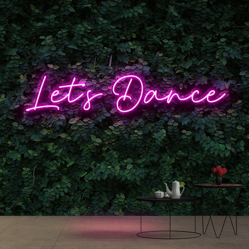 """Let's Dance"" Neon Sign 60cm (2ft) / Pink / Cut to Shape by Neon Icons"