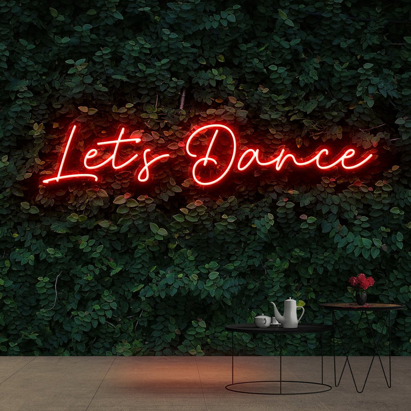 """Let's Dance"" Neon Sign 60cm (2ft) / Red / Cut to Shape by Neon Icons"