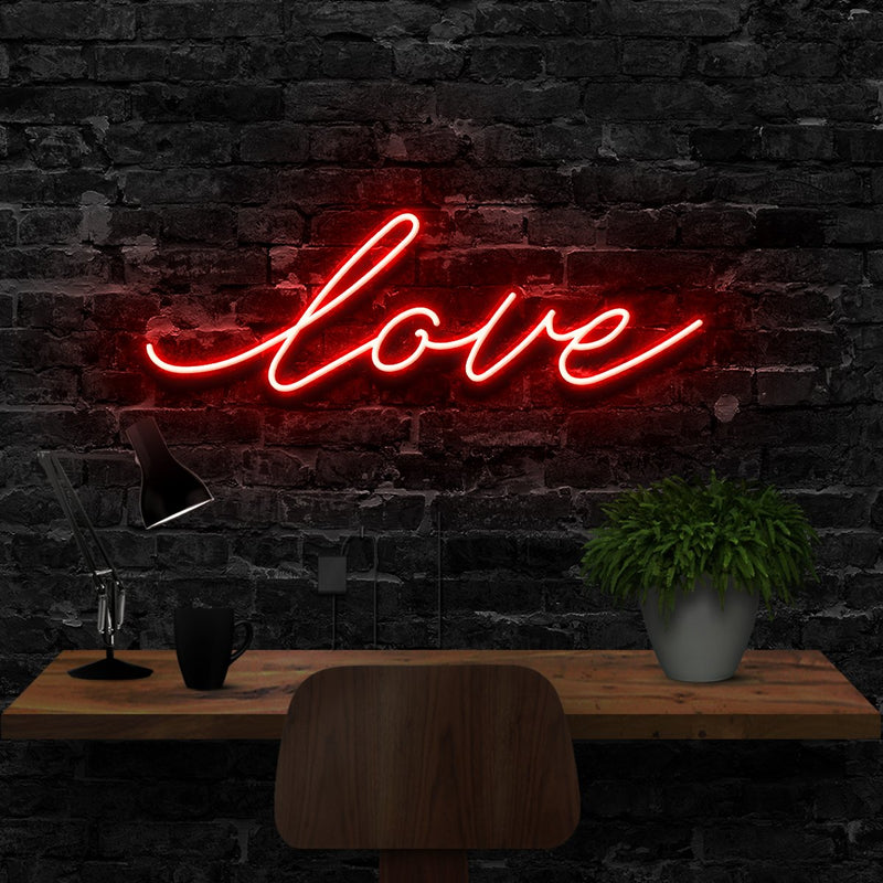 """Love"" Neon Sign 40cm (1.3ft) / Red / LED Neon by Neon Icons"