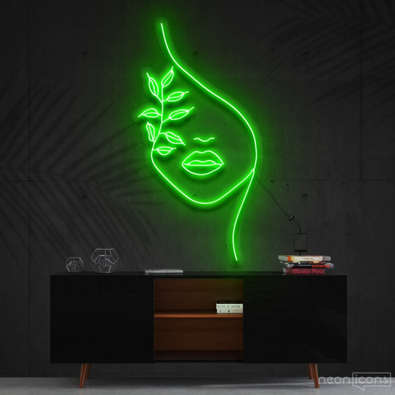 """Mother Nature"" Neon Sign 60cm (2ft) / Green / Cut to Shape by Neon Icons"