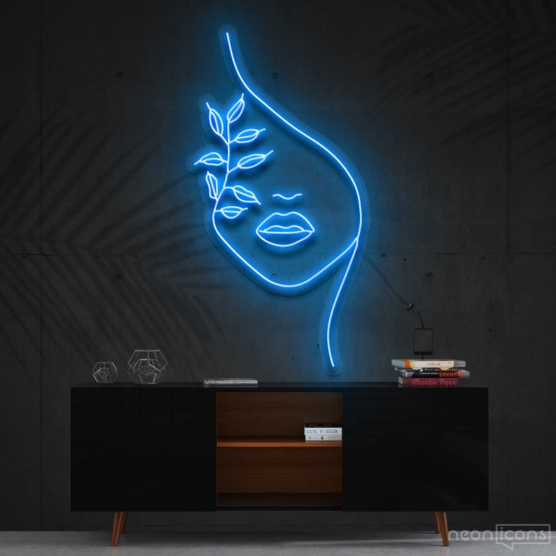 """Mother Nature"" Neon Sign 60cm (2ft) / Ice Blue / Cut to Shape by Neon Icons"