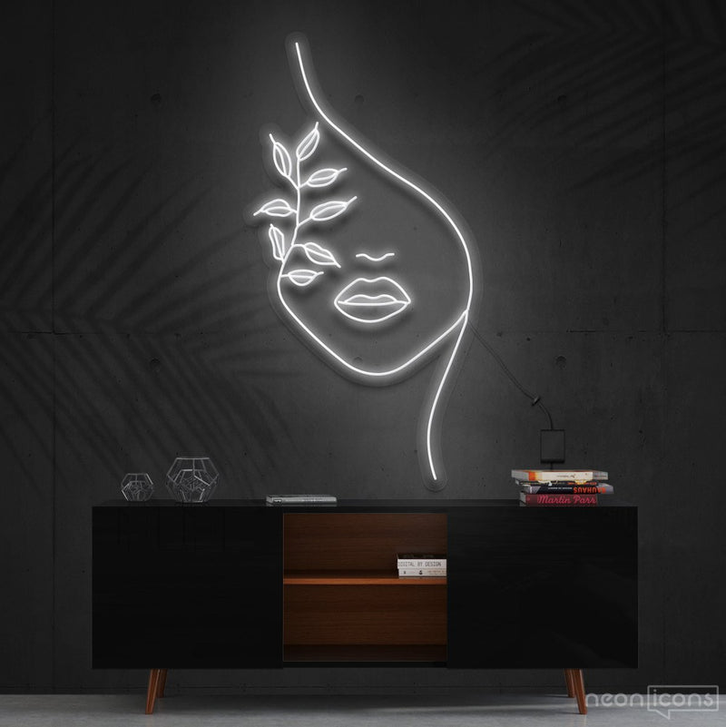 """Mother Nature"" Neon Sign 60cm (2ft) / White / Cut to Shape by Neon Icons"