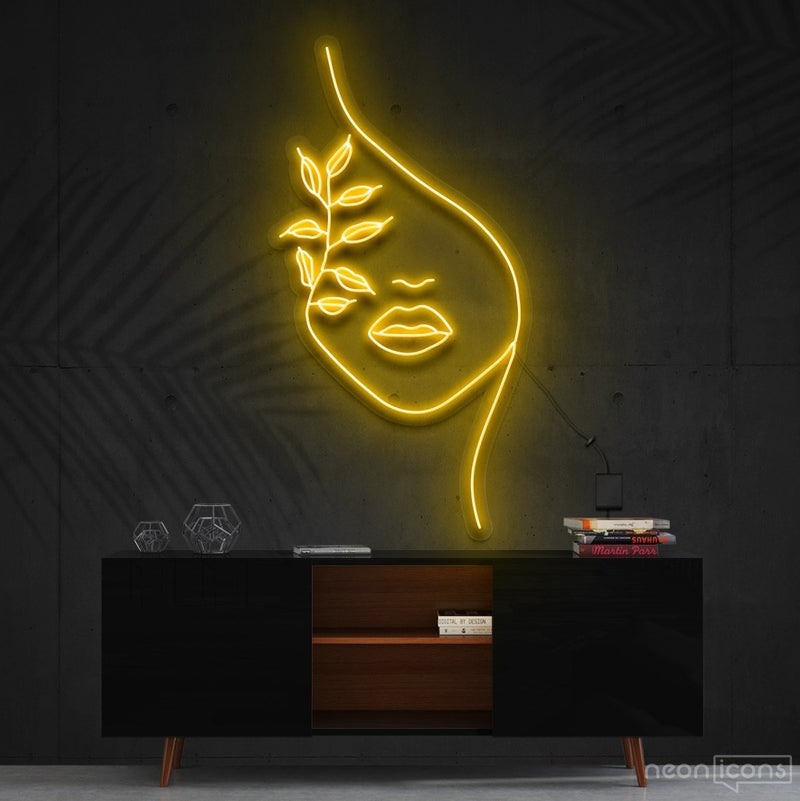"""Mother Nature"" Neon Sign 60cm (2ft) / Yellow / Cut to Shape by Neon Icons"