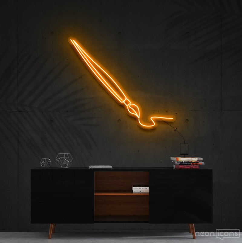 """Penmanship"" Neon Sign 60cm (2ft) / Orange / Cut to Shape by Neon Icons"