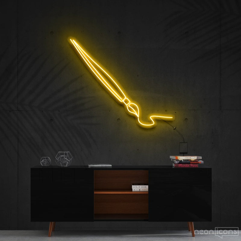 """Penmanship"" Neon Sign 60cm (2ft) / Yellow / Cut to Shape by Neon Icons"