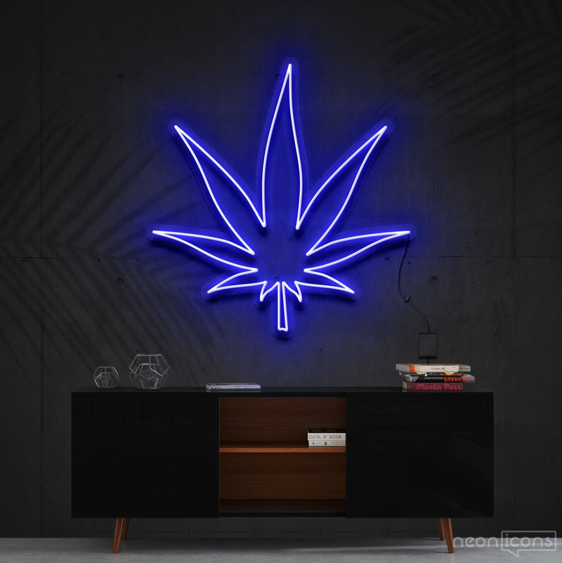 """Plant Based"" Neon Sign 60cm (2ft) / Blue / Cut to Shape by Neon Icons"