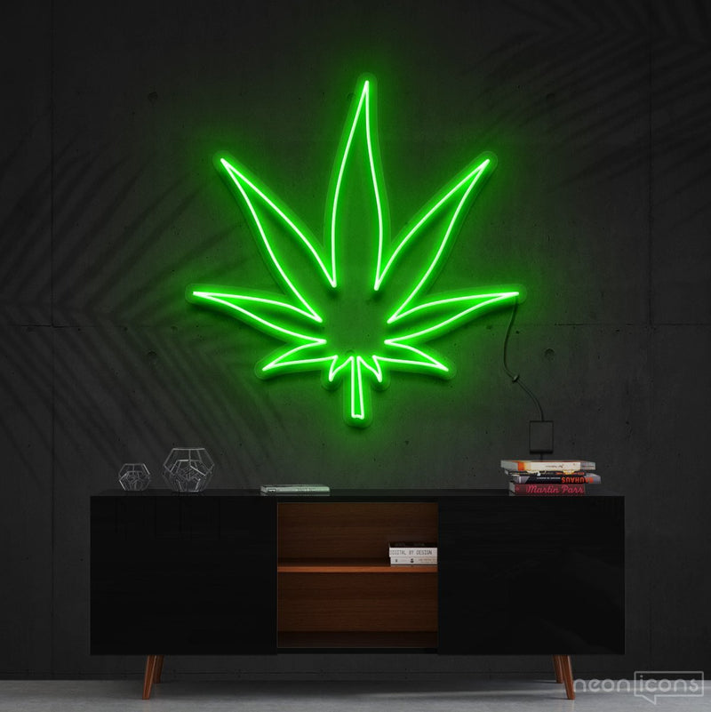 """Plant Based"" Neon Sign 60cm (2ft) / Green / Cut to Shape by Neon Icons"