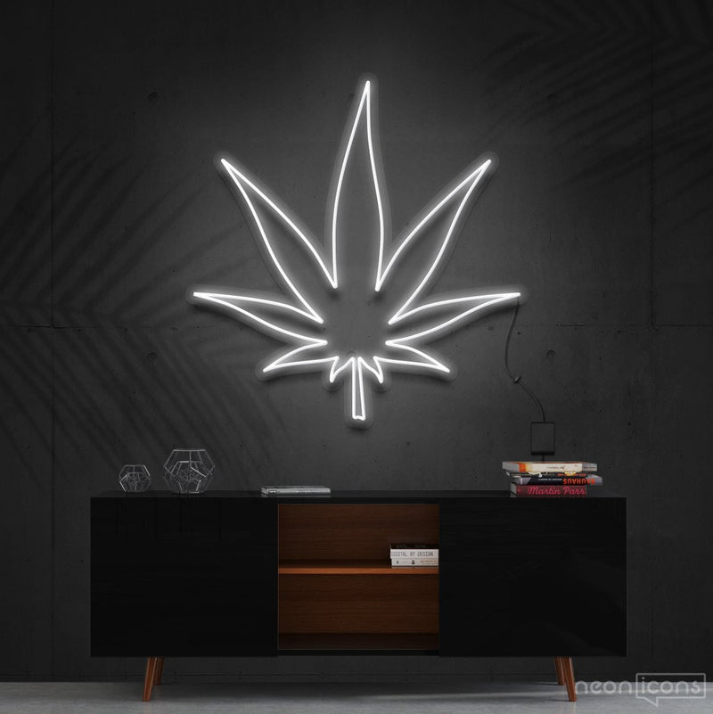 """Plant Based"" Neon Sign 60cm (2ft) / White / Cut to Shape by Neon Icons"