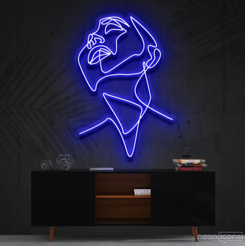 """Pure Ecstasy"" Neon Sign 90cm (3ft) / Blue / Cut to Shape by Neon Icons"