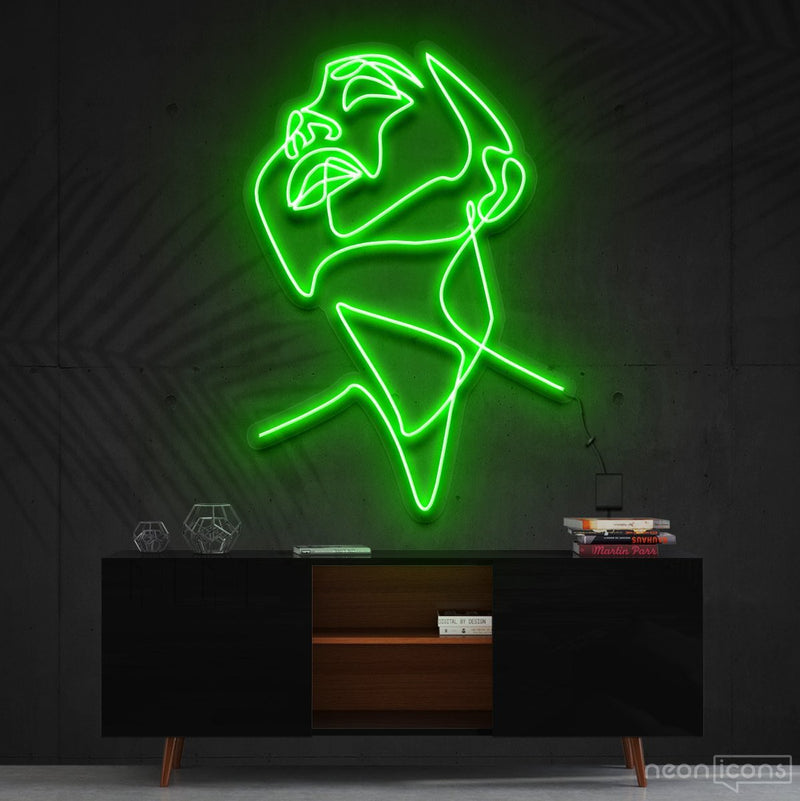"""Pure Ecstasy"" Neon Sign 90cm (3ft) / Green / Cut to Shape by Neon Icons"