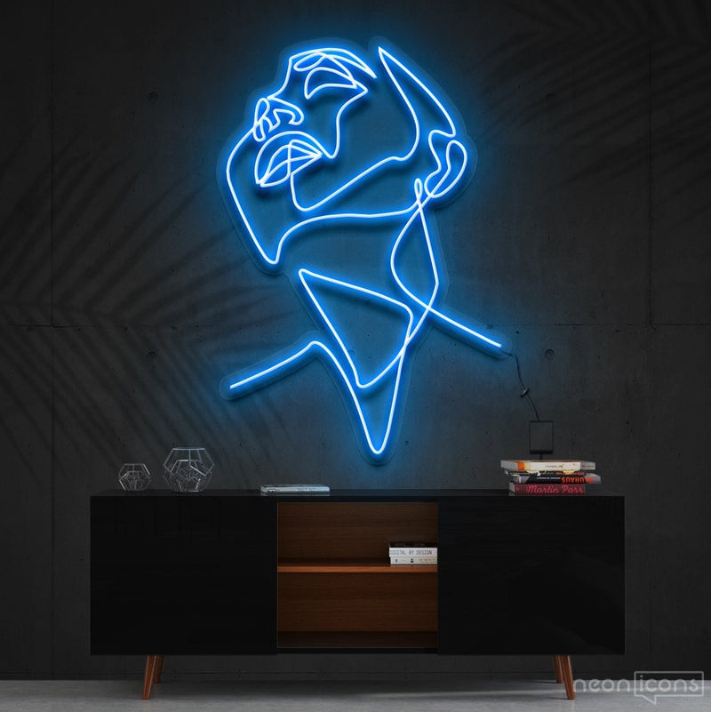 """Pure Ecstasy"" Neon Sign 90cm (3ft) / Ice Blue / Cut to Shape by Neon Icons"