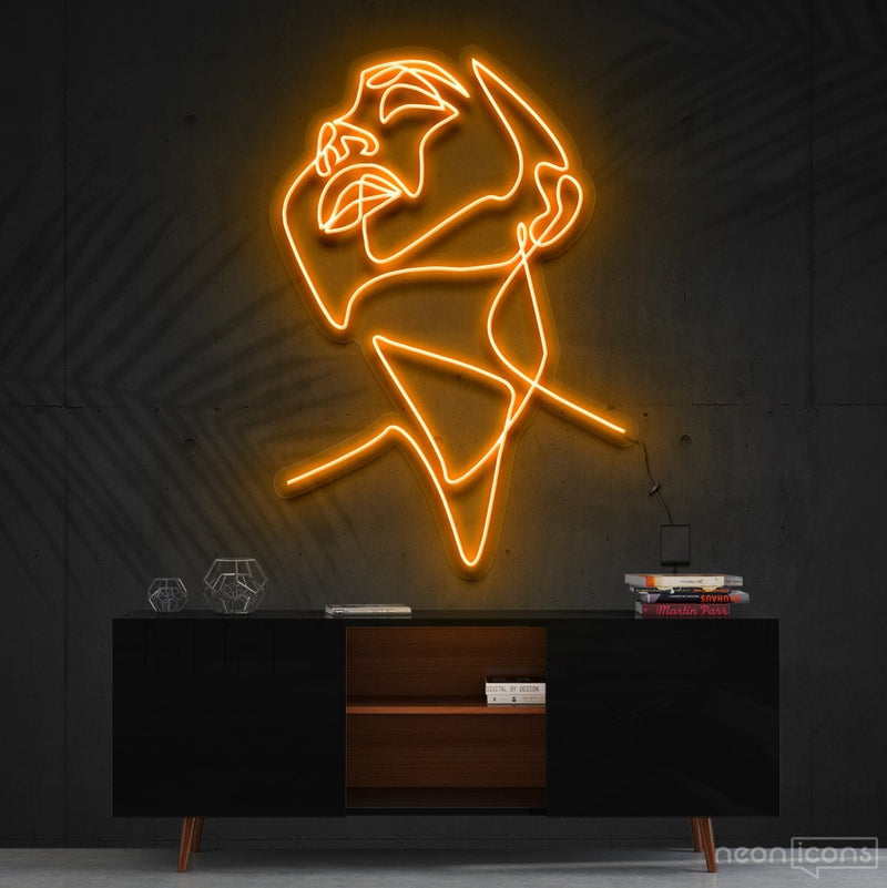 """Pure Ecstasy"" Neon Sign 90cm (3ft) / Orange / Cut to Shape by Neon Icons"