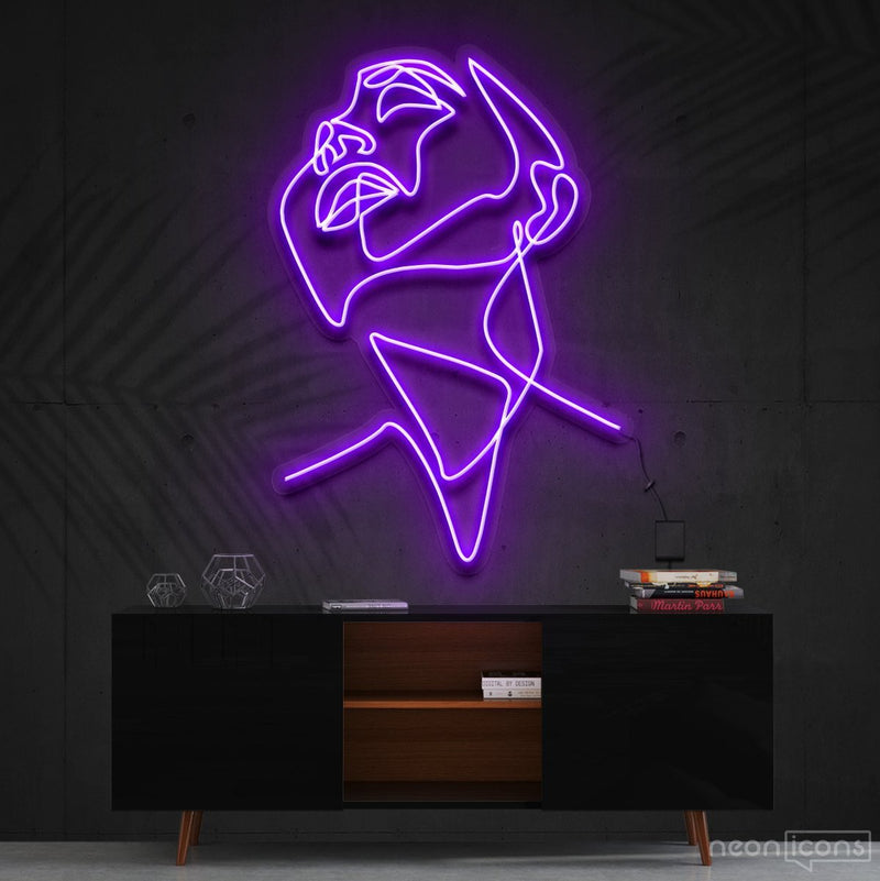 """Pure Ecstasy"" Neon Sign 90cm (3ft) / Purple / Cut to Shape by Neon Icons"