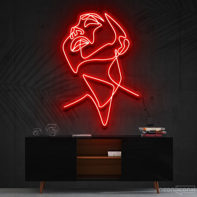 """Pure Ecstasy"" Neon Sign 90cm (3ft) / Red / Cut to Shape by Neon Icons"