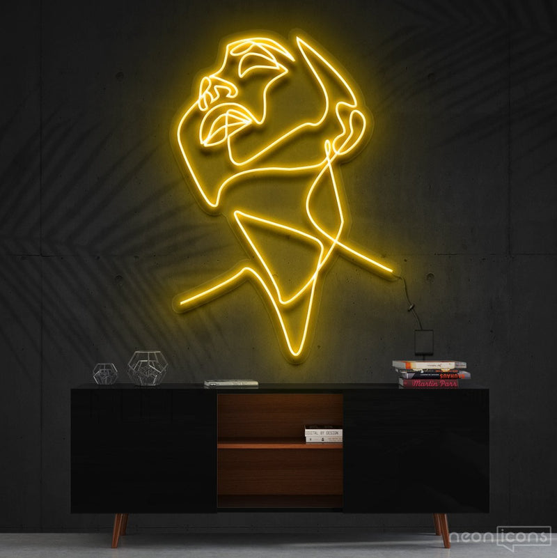 """Pure Ecstasy"" Neon Sign 90cm (3ft) / Yellow / Cut to Shape by Neon Icons"