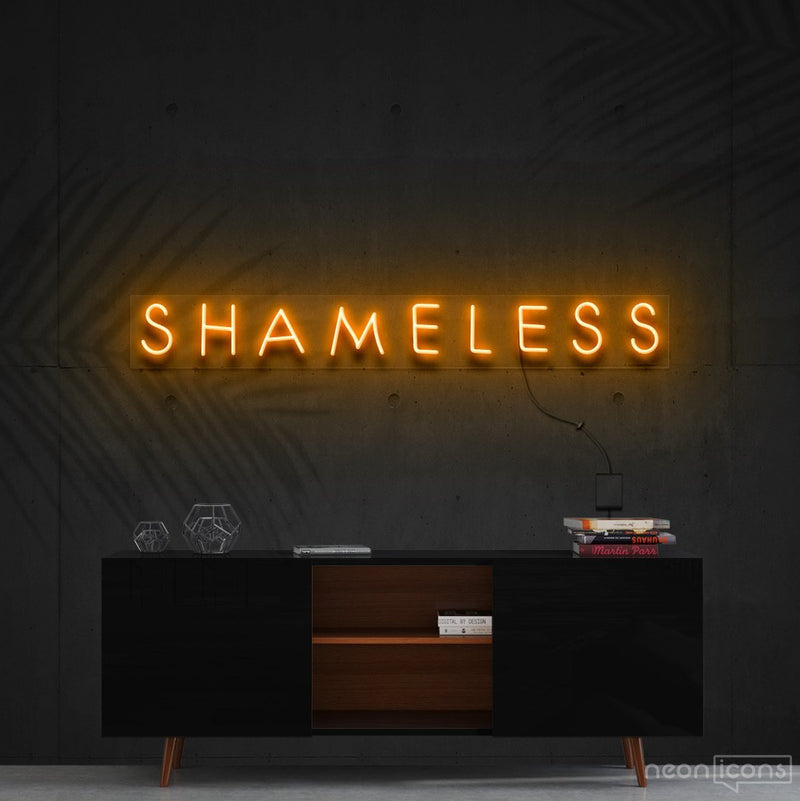 """Shameless"" Neon Sign 60cm (2ft) / Orange / Cut to Shape by Neon Icons"
