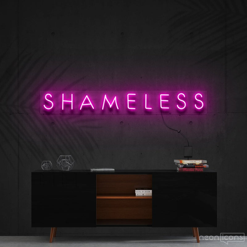 """Shameless"" Neon Sign 60cm (2ft) / Pink / Cut to Shape by Neon Icons"