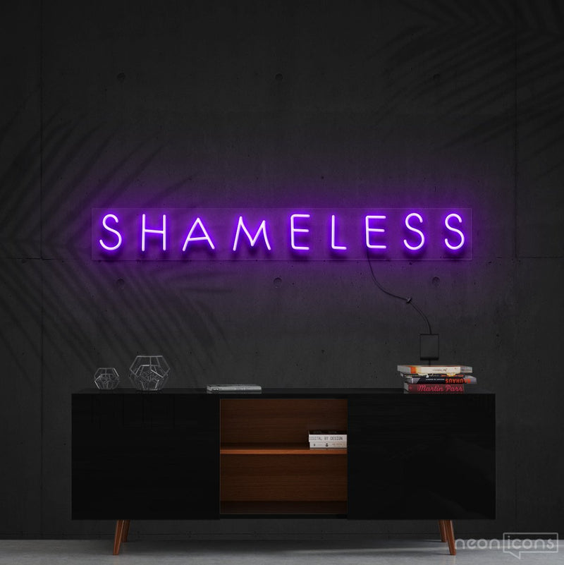 """Shameless"" Neon Sign 60cm (2ft) / Purple / Cut to Shape by Neon Icons"