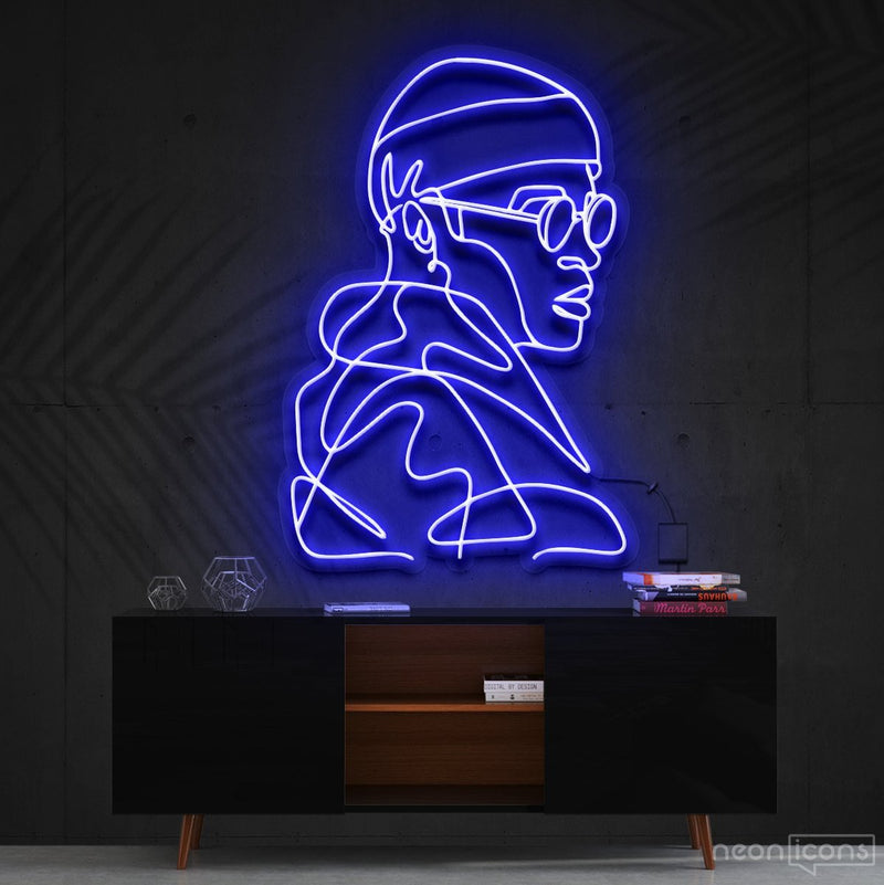 """Street Cred"" Neon Sign 60cm (2ft) / Blue / Cut to Square by Neon Icons"