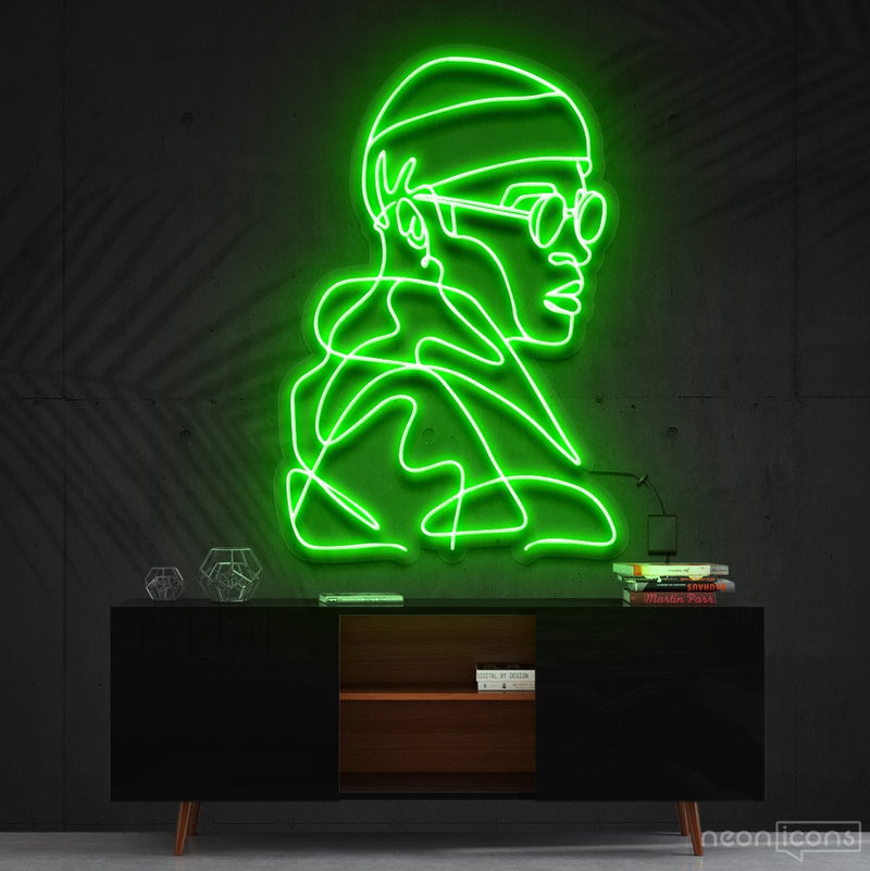 """Street Cred"" Neon Sign 60cm (2ft) / Green / Cut to Square by Neon Icons"