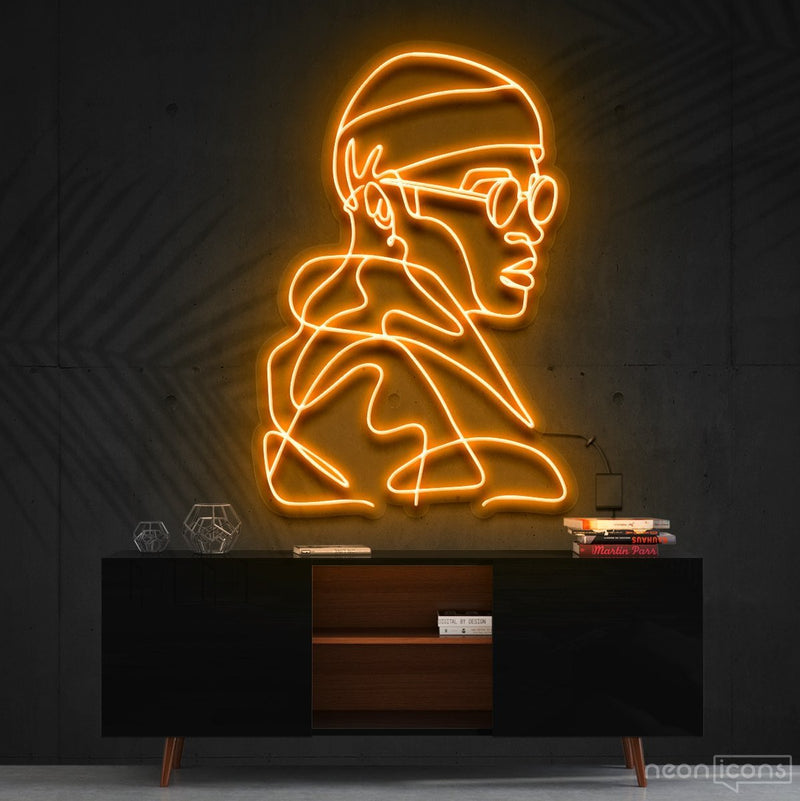 """Street Cred"" Neon Sign 60cm (2ft) / Orange / Cut to Square by Neon Icons"