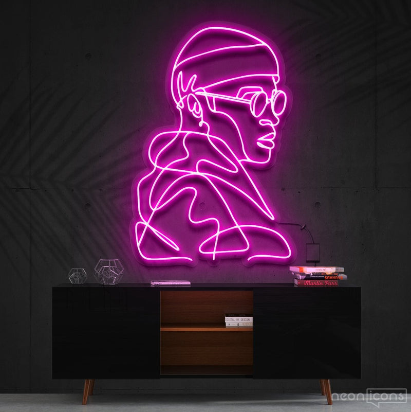 """Street Cred"" Neon Sign 60cm (2ft) / Pink / Cut to Square by Neon Icons"