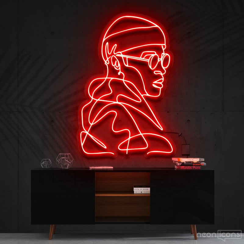 """Street Cred"" Neon Sign 60cm (2ft) / Red / Cut to Square by Neon Icons"