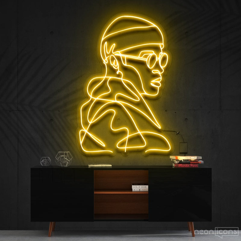 """Street Cred"" Neon Sign 60cm (2ft) / Yellow / Cut to Square by Neon Icons"