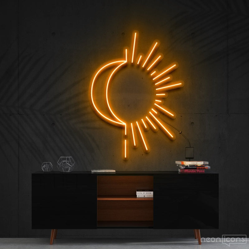 """Sunshine & Moonshine"" Neon Sign 60cm (2ft) / Orange / Cut to Shape by Neon Icons"