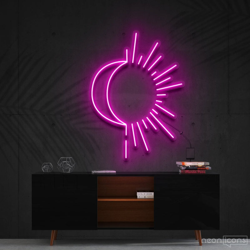 """Sunshine & Moonshine"" Neon Sign 60cm (2ft) / Pink / Cut to Shape by Neon Icons"