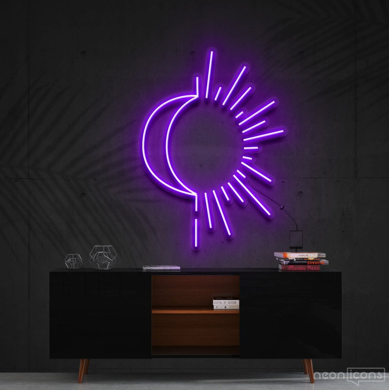 """Sunshine & Moonshine"" Neon Sign 60cm (2ft) / Purple / Cut to Shape by Neon Icons"