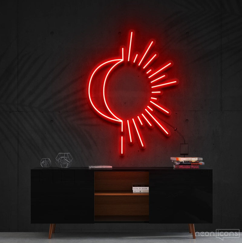 """Sunshine & Moonshine"" Neon Sign 60cm (2ft) / Red / Cut to Shape by Neon Icons"
