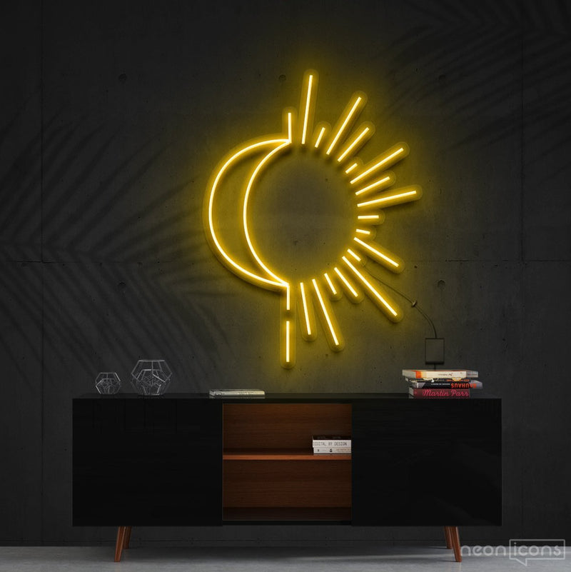 """Sunshine & Moonshine"" Neon Sign 60cm (2ft) / Yellow / Cut to Shape by Neon Icons"