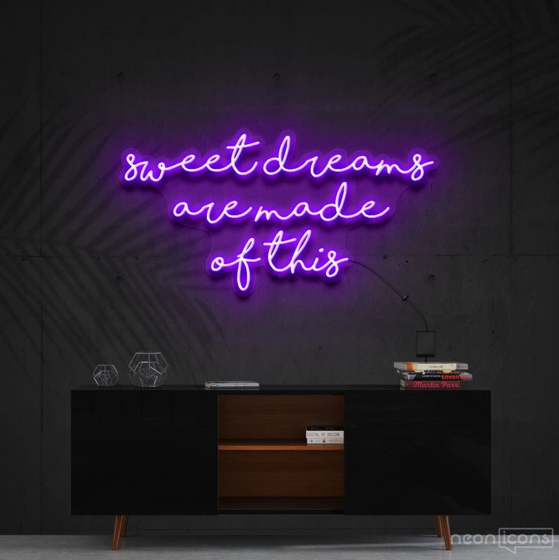 """Sweet Dreams Are Made Of This"" Neon Sign 90cm (3ft) / Purple / Cut to Shape by Neon Icons"