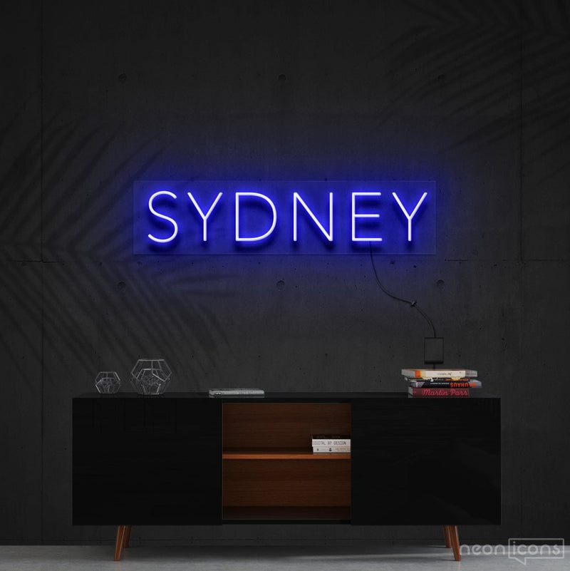 """Sydney"" Neon Sign 60cm (2ft) / Blue / Cut to Shape by Neon Icons"
