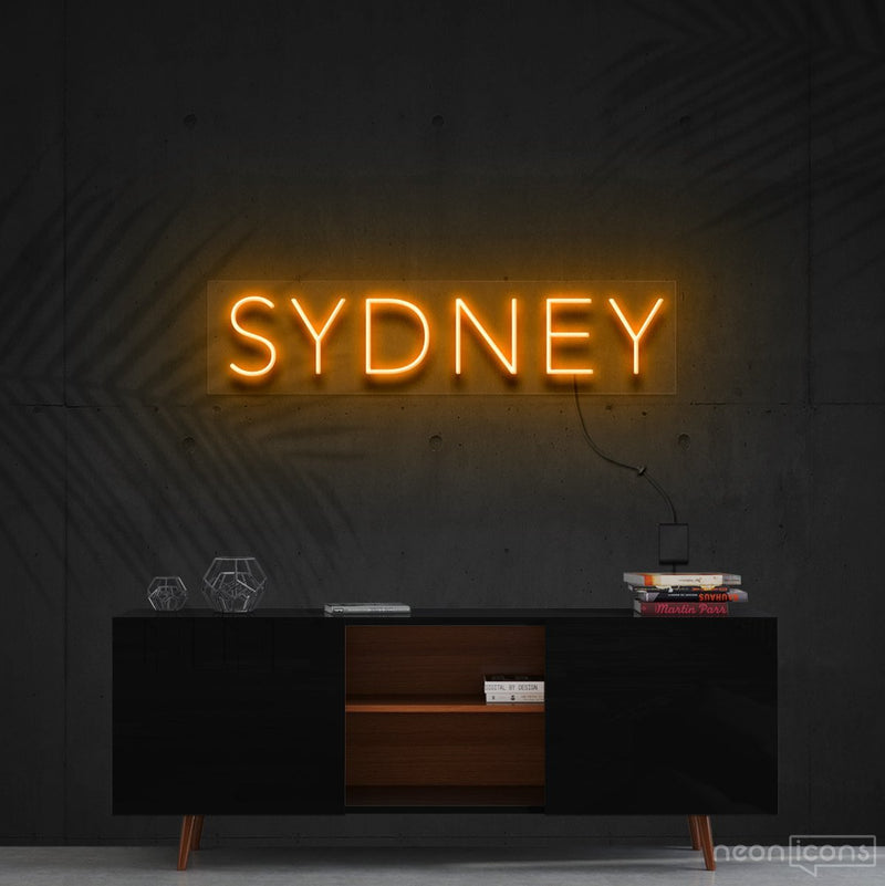 """Sydney"" Neon Sign 60cm (2ft) / Orange / Cut to Shape by Neon Icons"