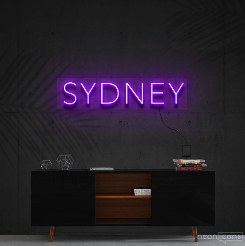 """Sydney"" Neon Sign 60cm (2ft) / Purple / Cut to Shape by Neon Icons"