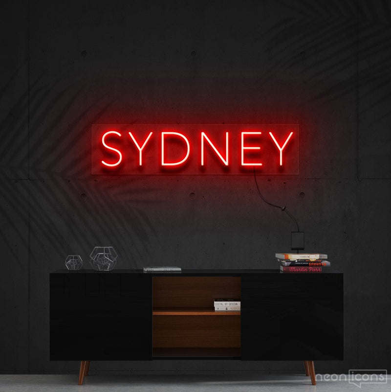 """Sydney"" Neon Sign 60cm (2ft) / Red / Cut to Shape by Neon Icons"