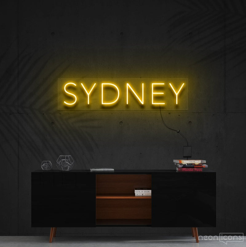 """Sydney"" Neon Sign 60cm (2ft) / Yellow / Cut to Shape by Neon Icons"