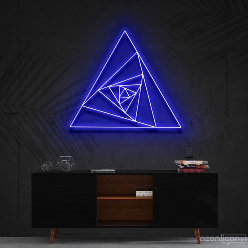 """Triangle Shutter"" Neon Sign 60cm (2ft) / Blue / Cut to Shape by Neon Icons"