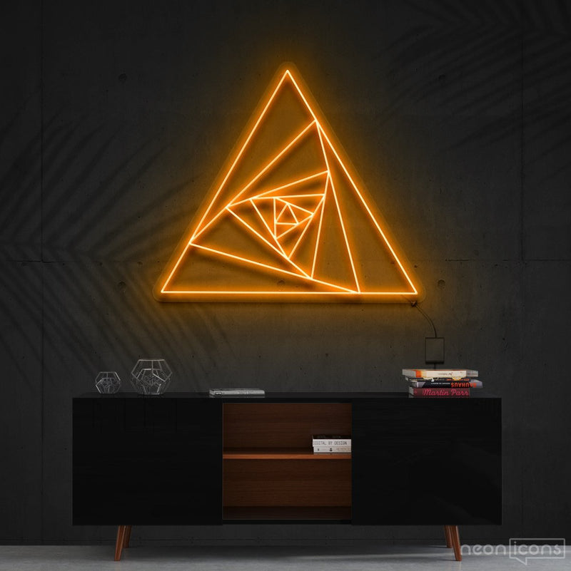 """Triangle Shutter"" Neon Sign 60cm (2ft) / Orange / Cut to Shape by Neon Icons"